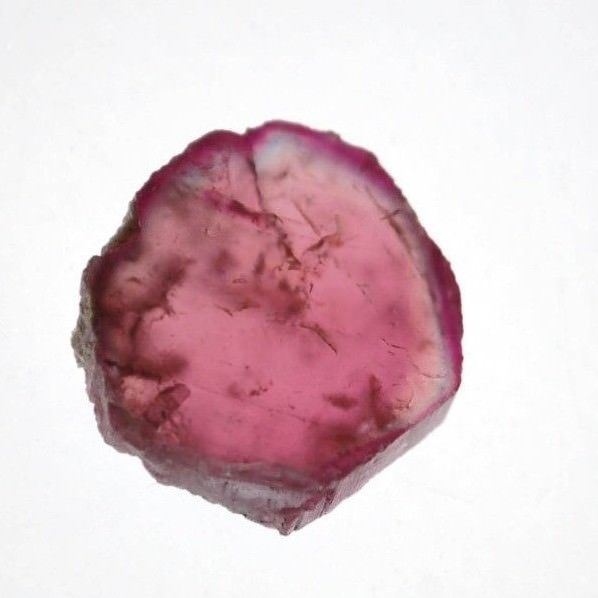 LOVELY RUBELLITE - RED / PINK TOURMALINE NATURAL PT. SLICE 2.0 x 1.9 cm 3.63 gm
