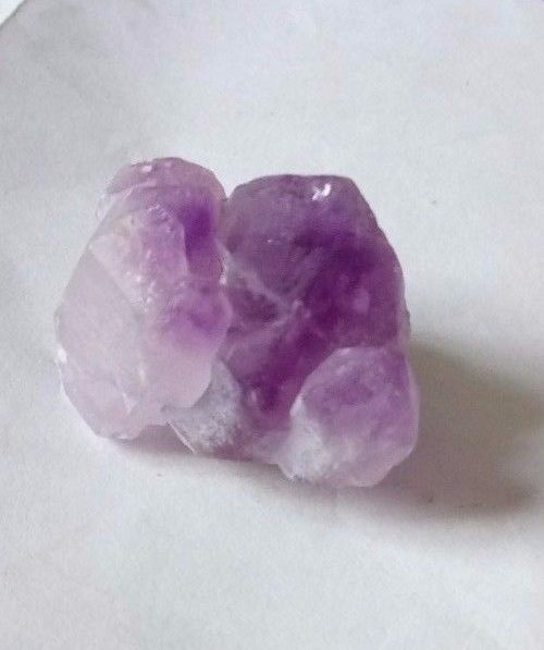 LOVELY SMALL NATURAL AMETHYST ELESTIAL CLUSTER - Madagascar - 13.99 gms 2.8 cms